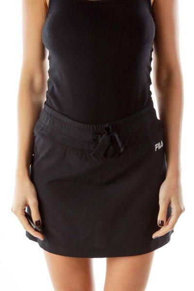 Black Athletic Mini Skirt