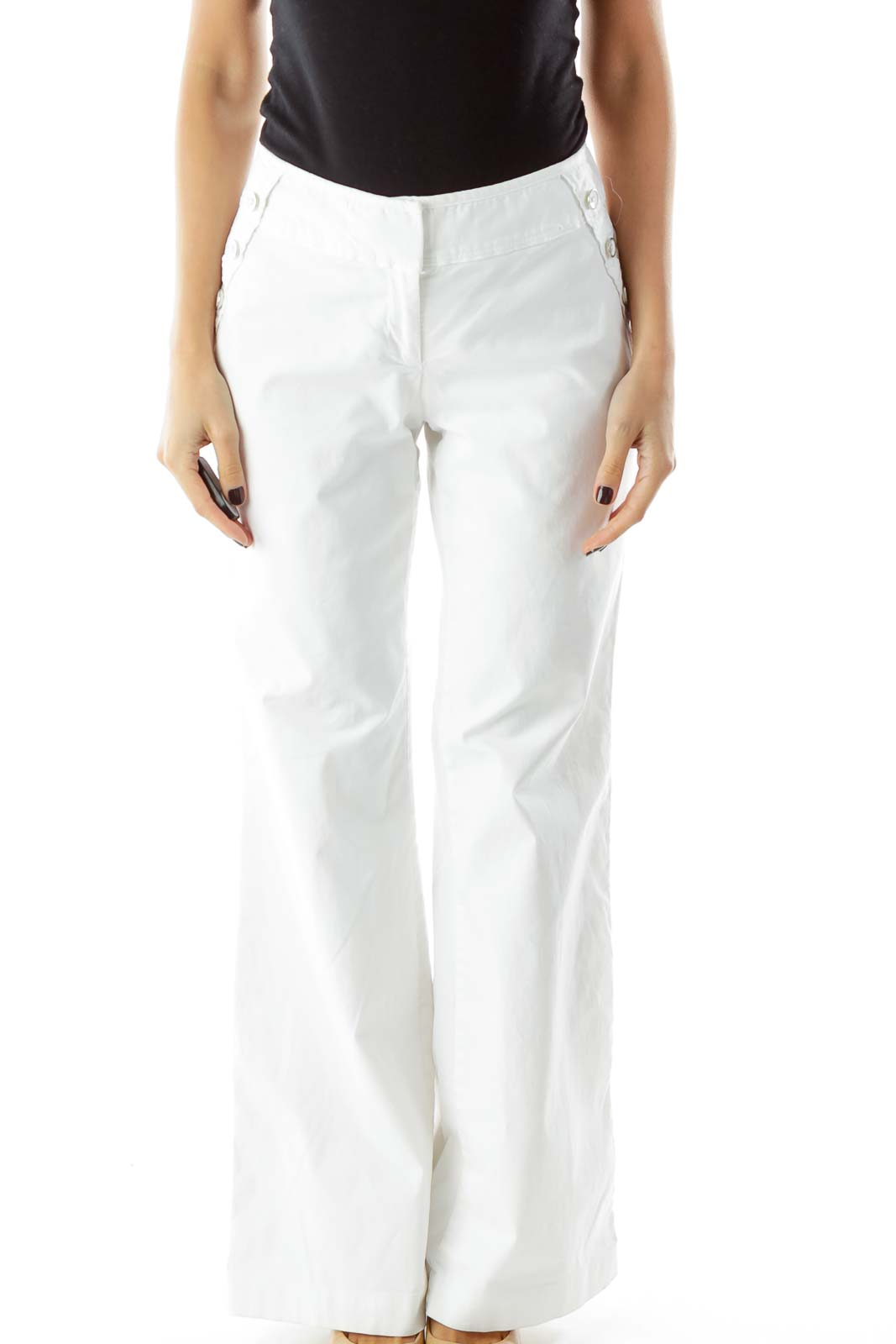 White Wide Leg Pants
