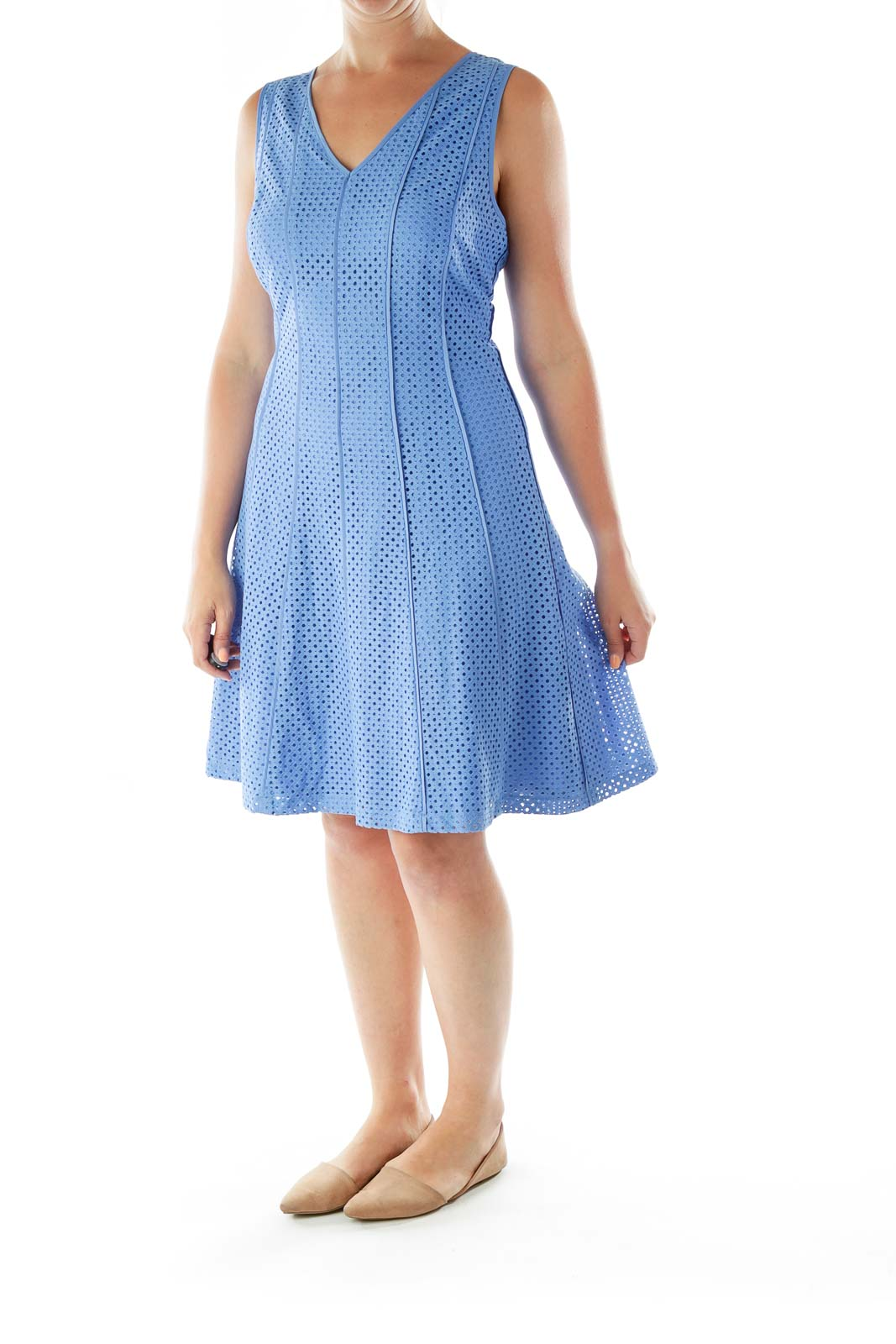 Blue Lines Holes Day Dress