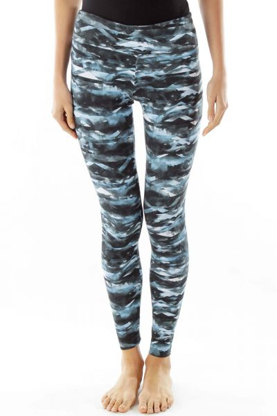Blue Print Leggings