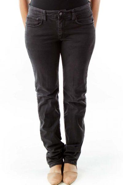 Gray Denim Pants