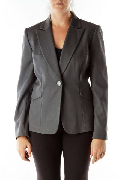 Gray Stitched Blazer
