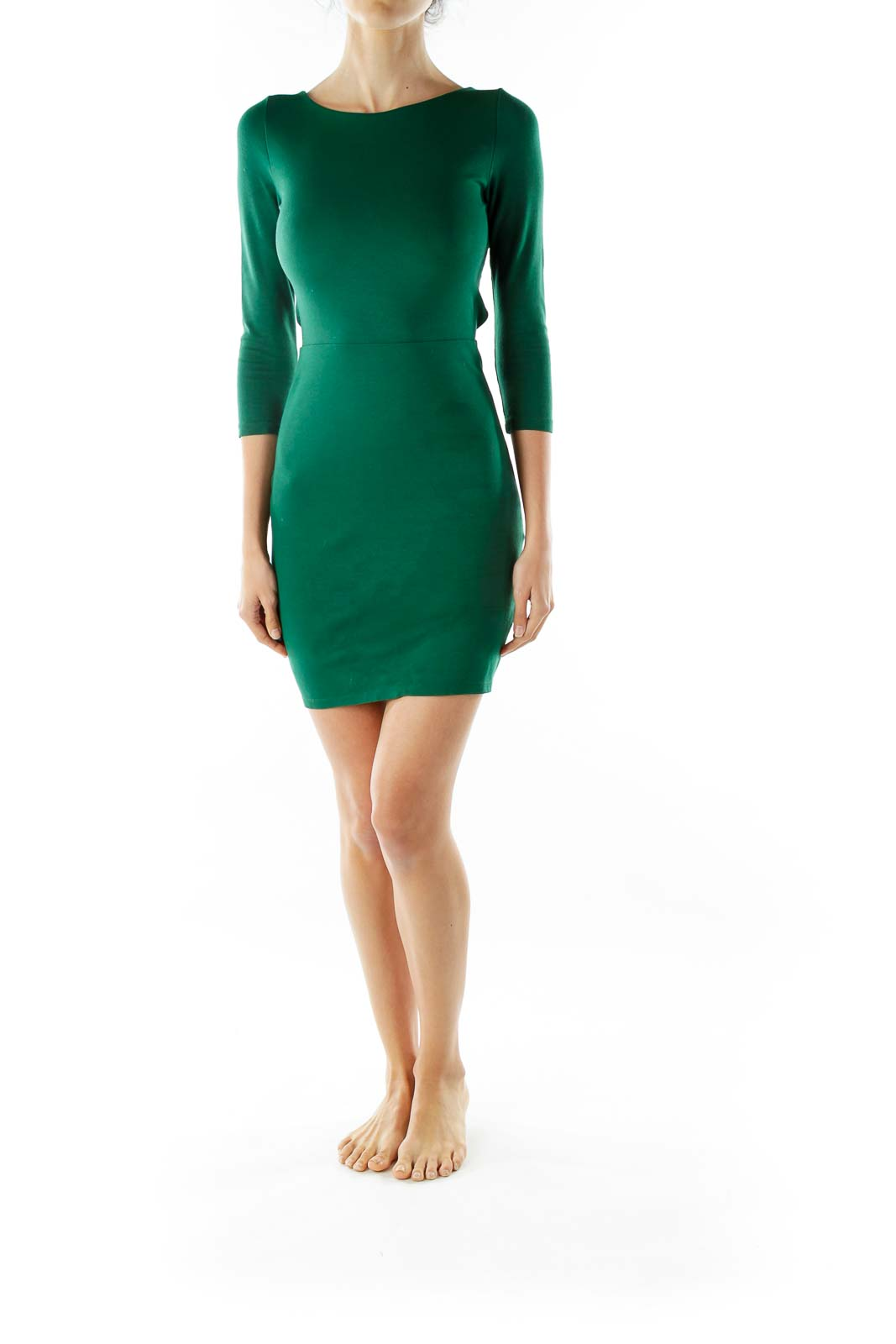Green Cut-Out Dress