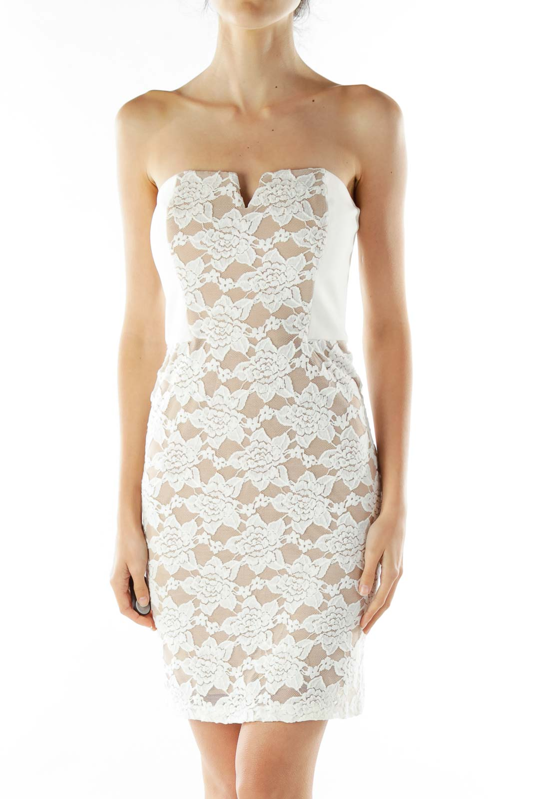 Cream Beige Lace Dress