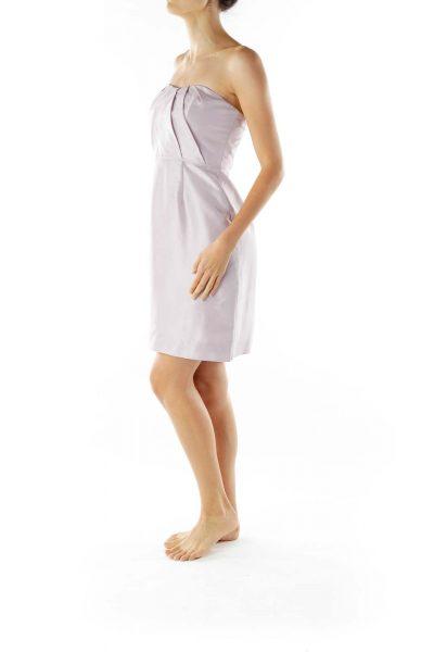 Mauve Strapless Cocktail Dress