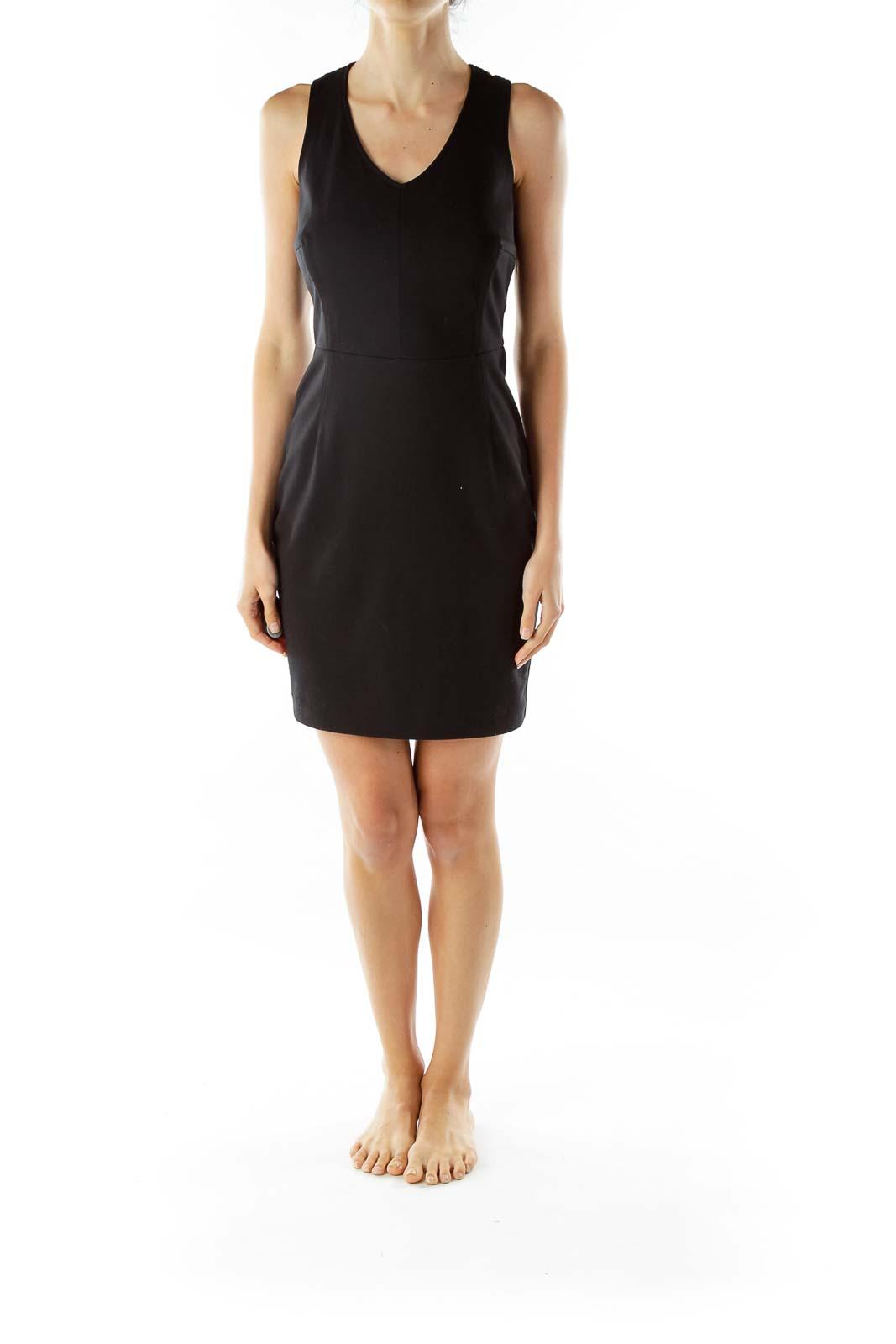 Black Fitted Sheath Dress
