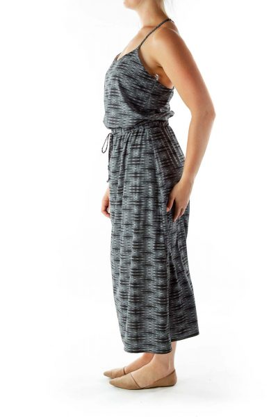 Black White Print Maxi Dress