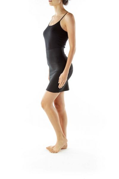 Black Bandage Wrap Pencil Skirt