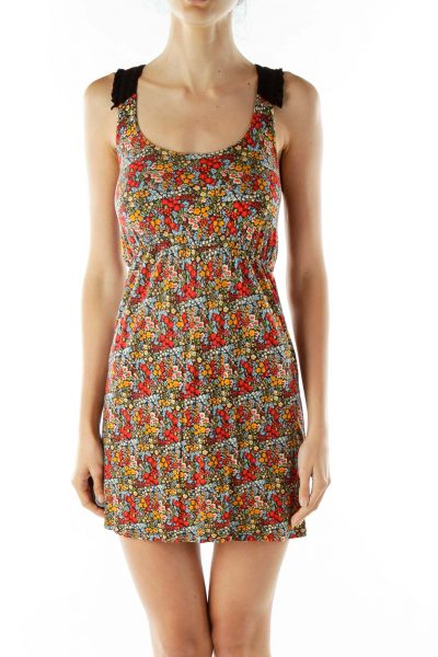 Multi-Color Foral Day Dress