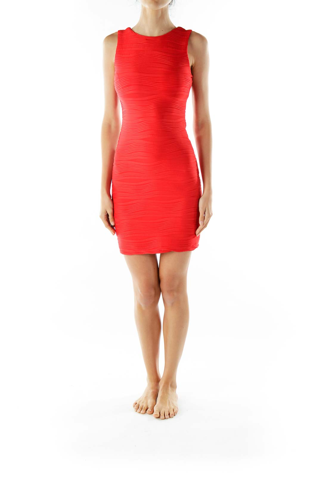 Red Sheath Cocktail Dress