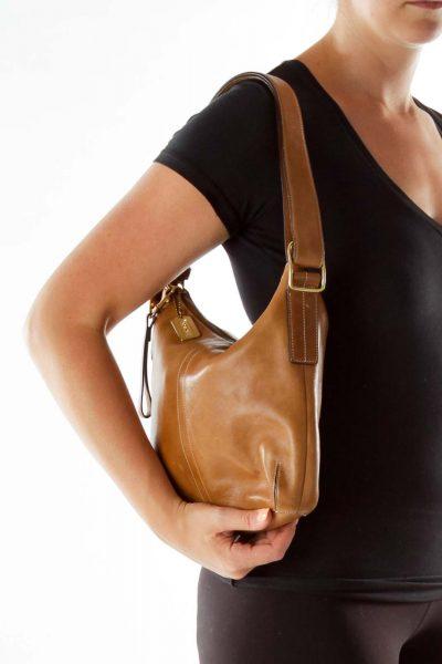 Brown Square Crossbody Bag