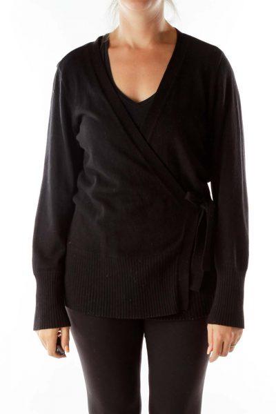 Black Wrap Sweater