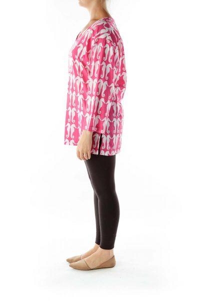 Pink White Seahorse Tunic