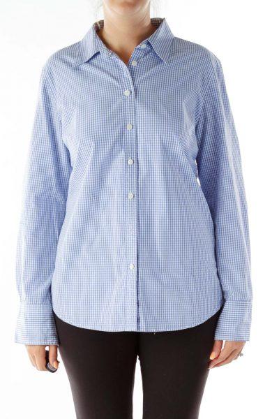 Blue White Checkered Shirt
