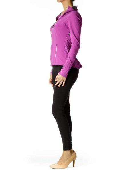Purple Gray Sports Jacket