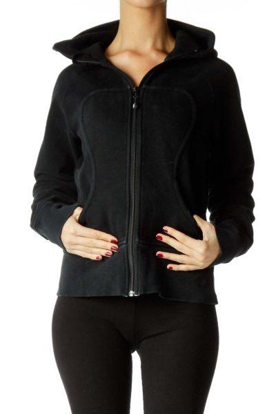 Black White Sports Jacket