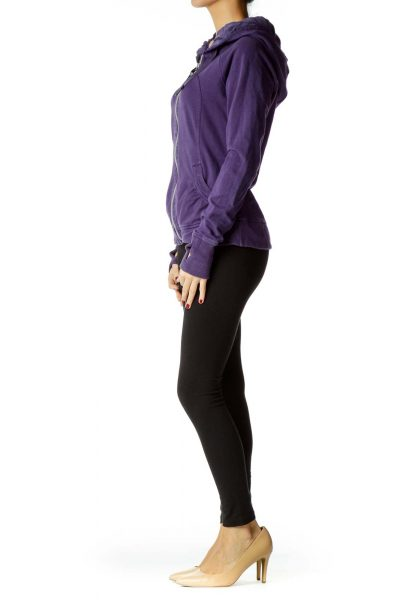 Purple Scrunched Sports Jacket