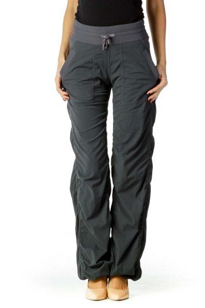 Gray Striped Sports Pants