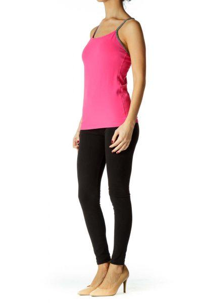 Pink Gray Yoga Top