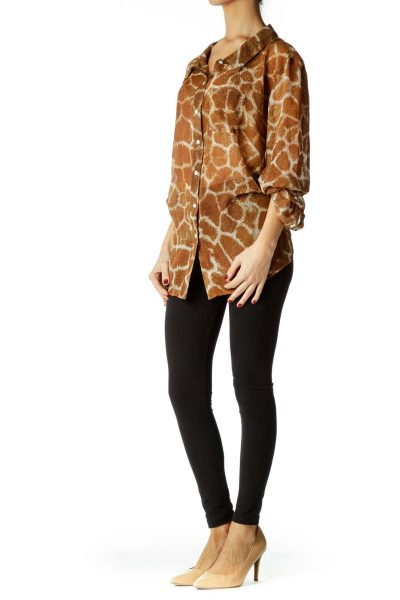 Brown Cream Animal Print