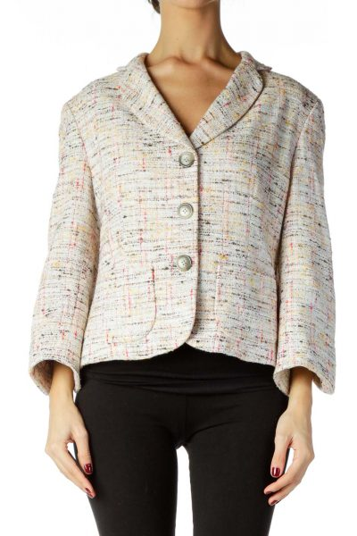 Multicolor Tweed Blazer