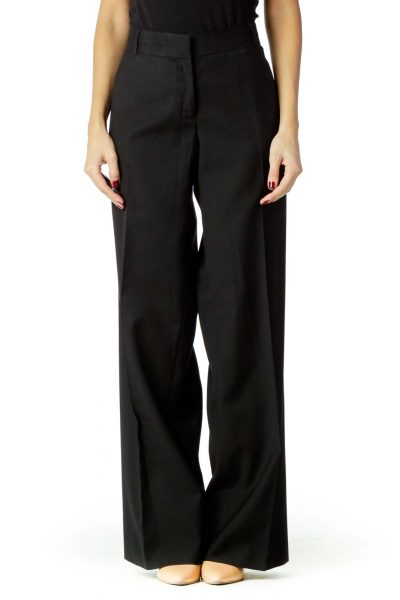 Black Wool Slacks