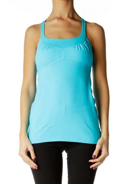 Blue Yoga Sports Tank
