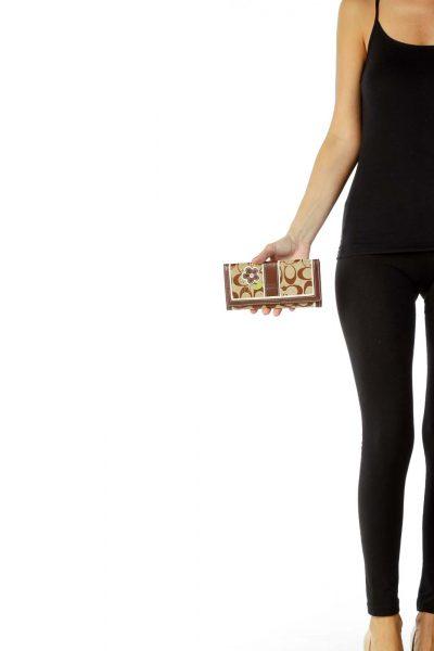 Brown Monogrammed Wallet