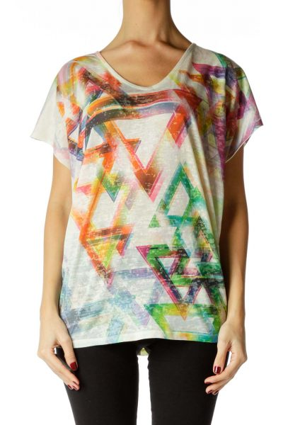 Multicolor Print T-Shirt