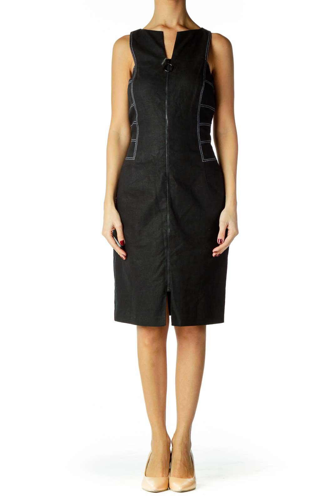 Black Denim Work Dress