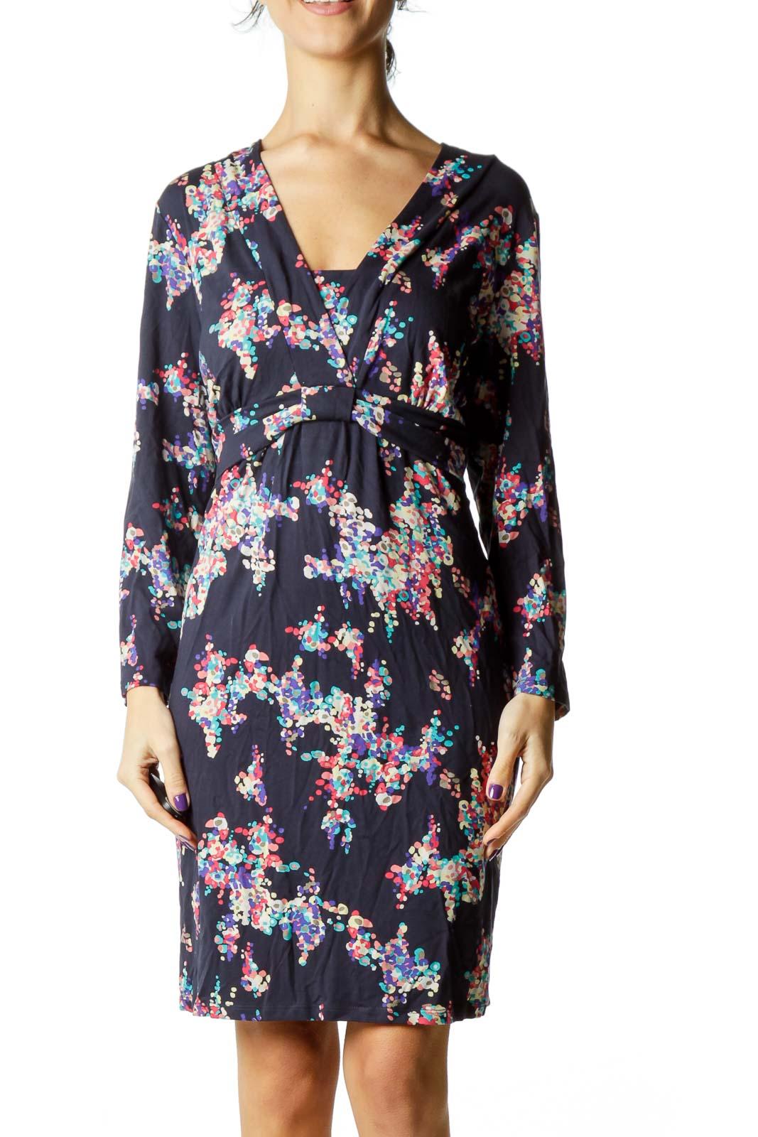 Multicolor Print Jersey Dress