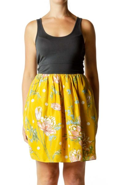 Yellow Flower Day Dress