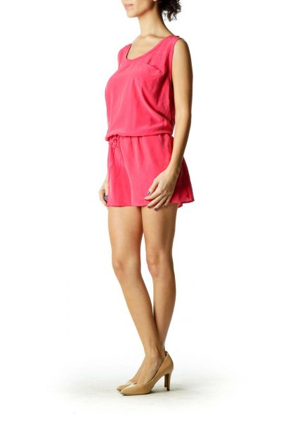 Pink Silk Romper