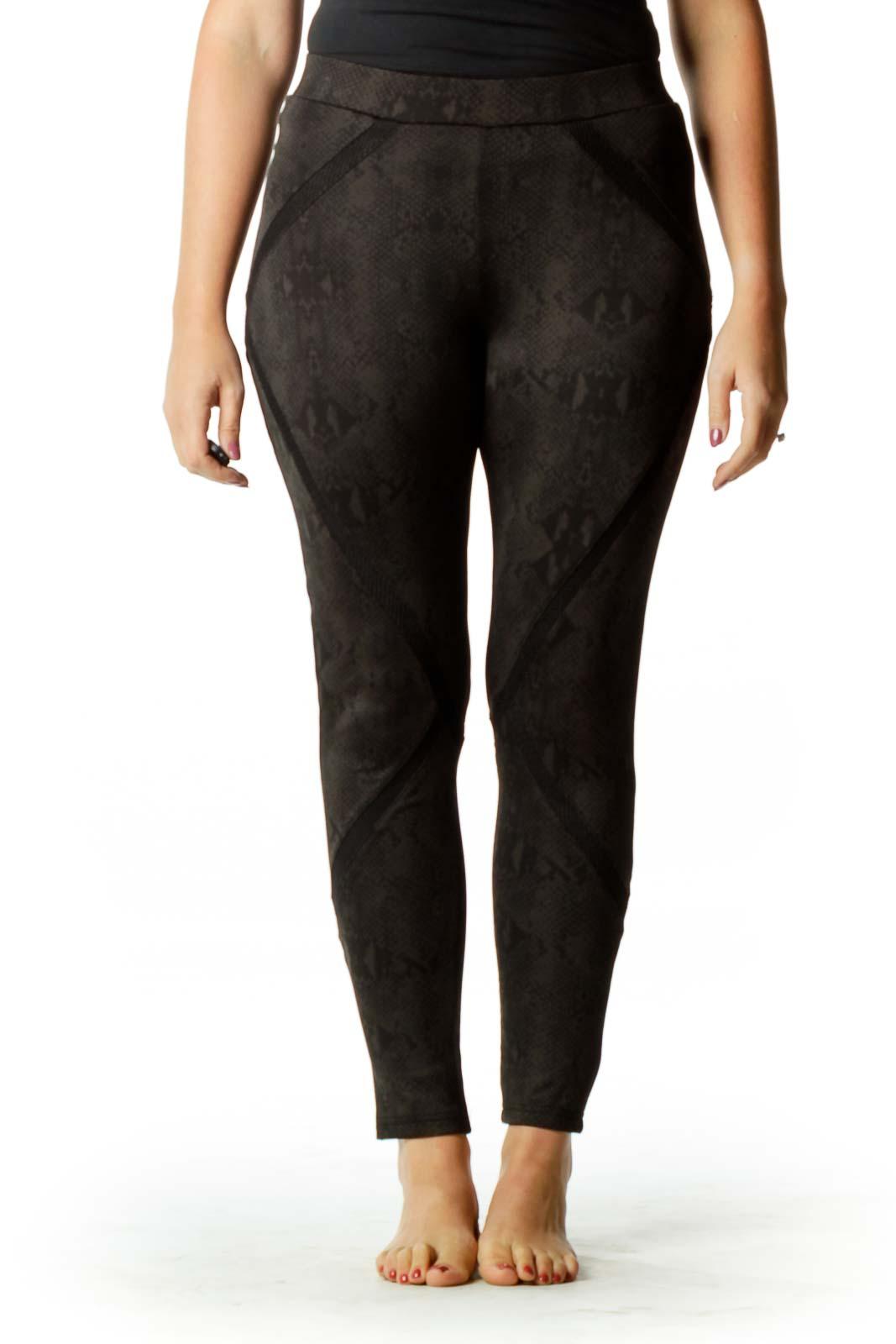 Black Snake Skin Print Leggings