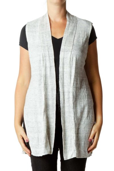 Gray Linen Vest