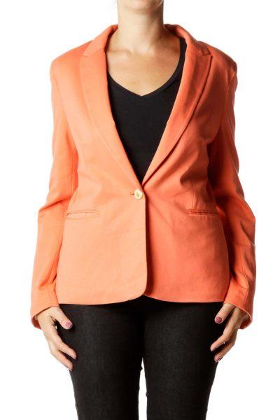 Coral Pink Suit Jacket