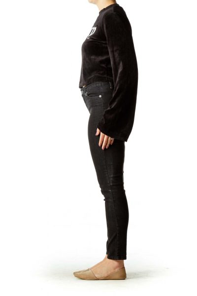 Black Velvet Sweatshirt