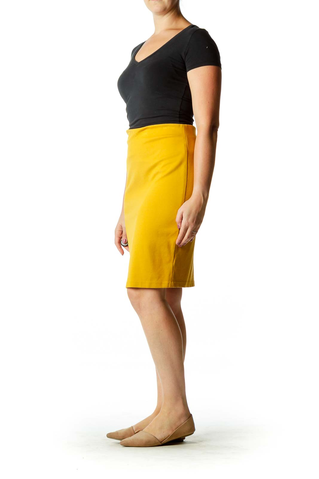 Mustard Yellow Pencil Skirt