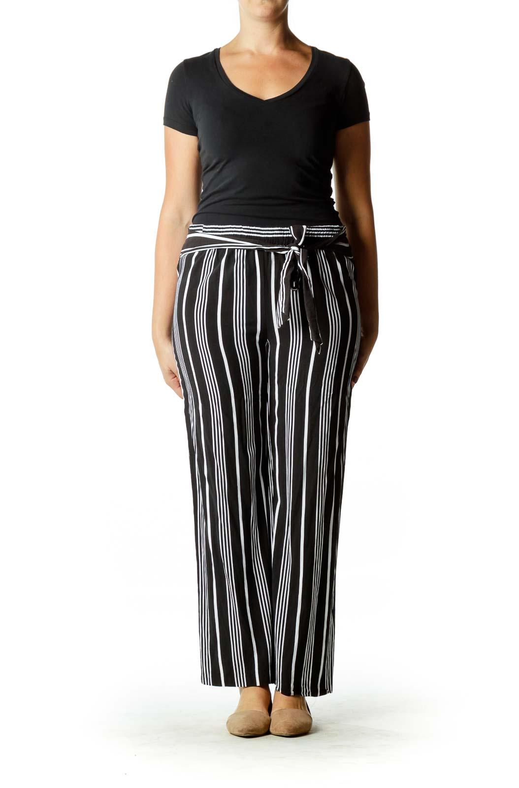 Black & White Pinstripe Pants