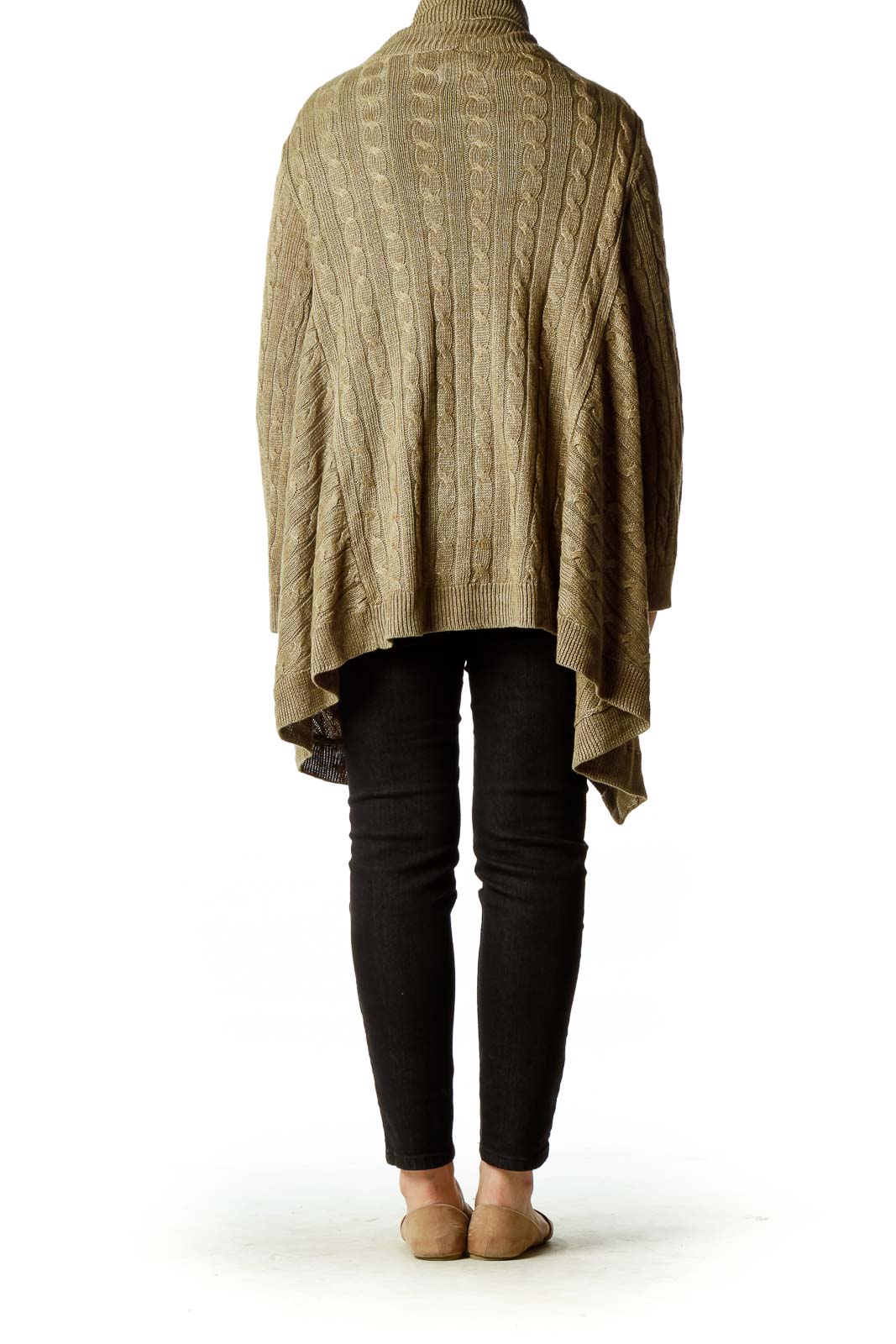 Brown Cable Knit Oversized Cardigan