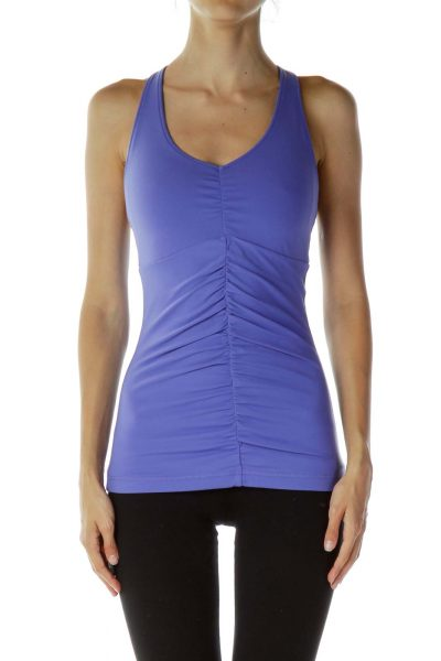 Purple Racerback Yoga Top