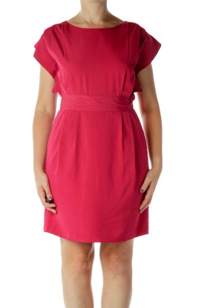 Pink Structured Dress
