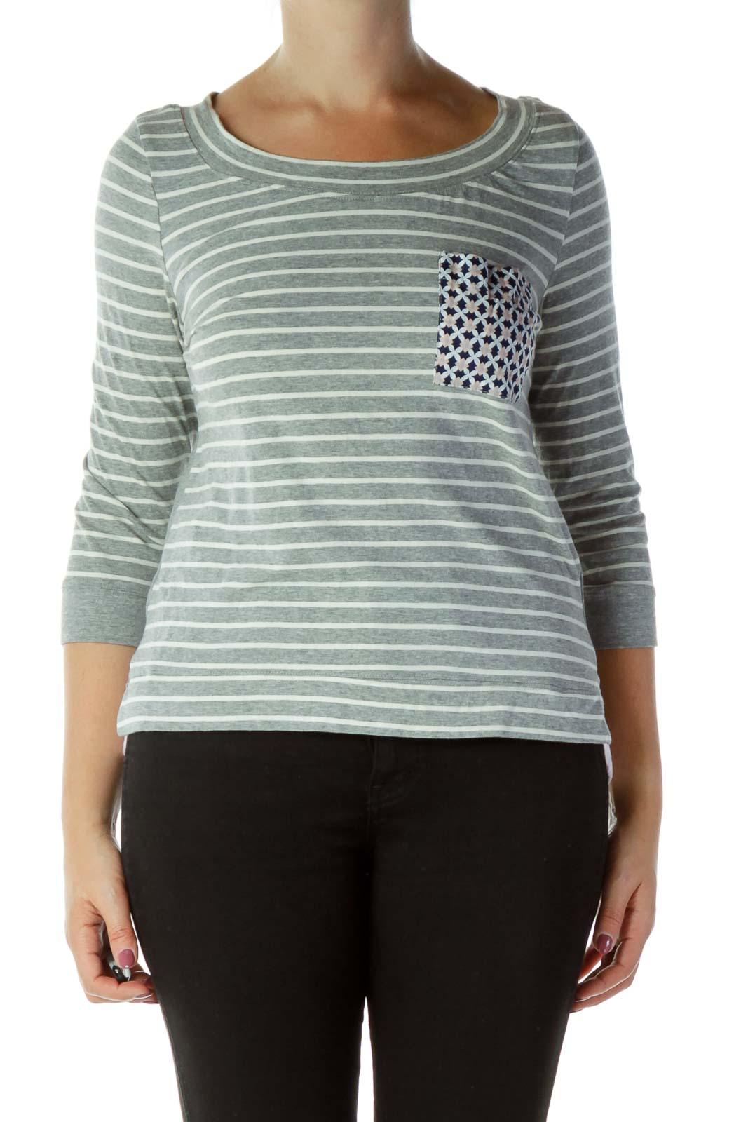 Gray Striped Layered Shirt