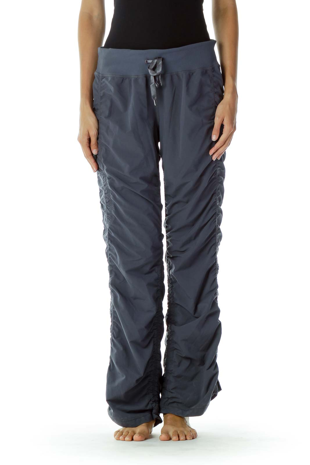 Blue Scrunched Pants