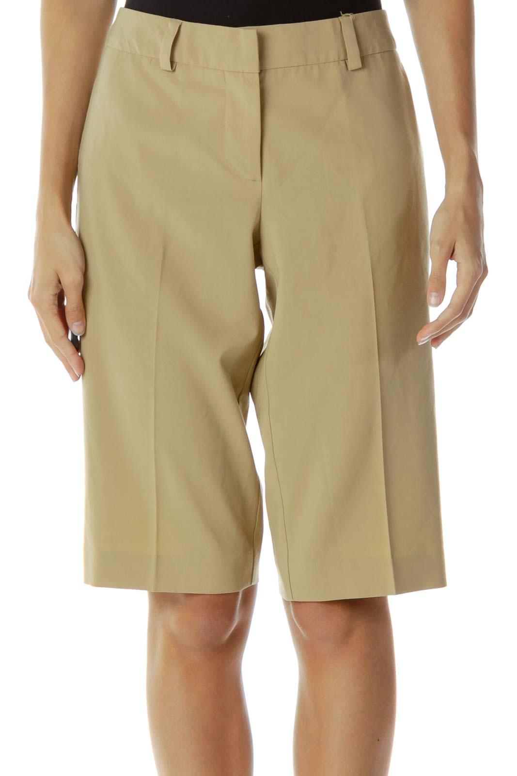 Brown Knee-Length Shorts