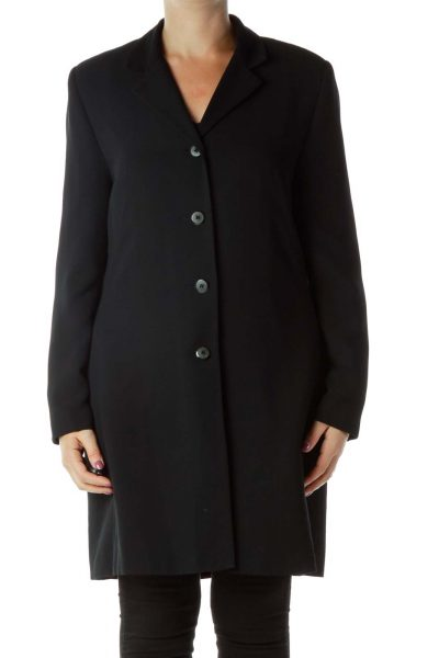 Black Collared Coat