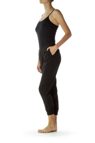 Black Pocketed Skinny Pants