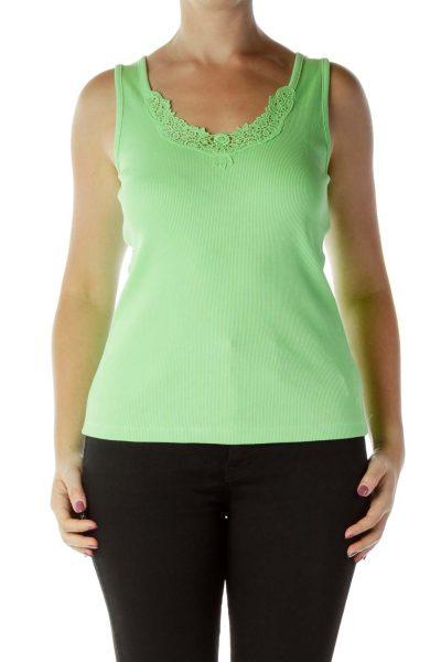 Green 100% Cotton Tank Top
