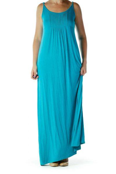 Blue Spaghetti Strap Maxi Dress
