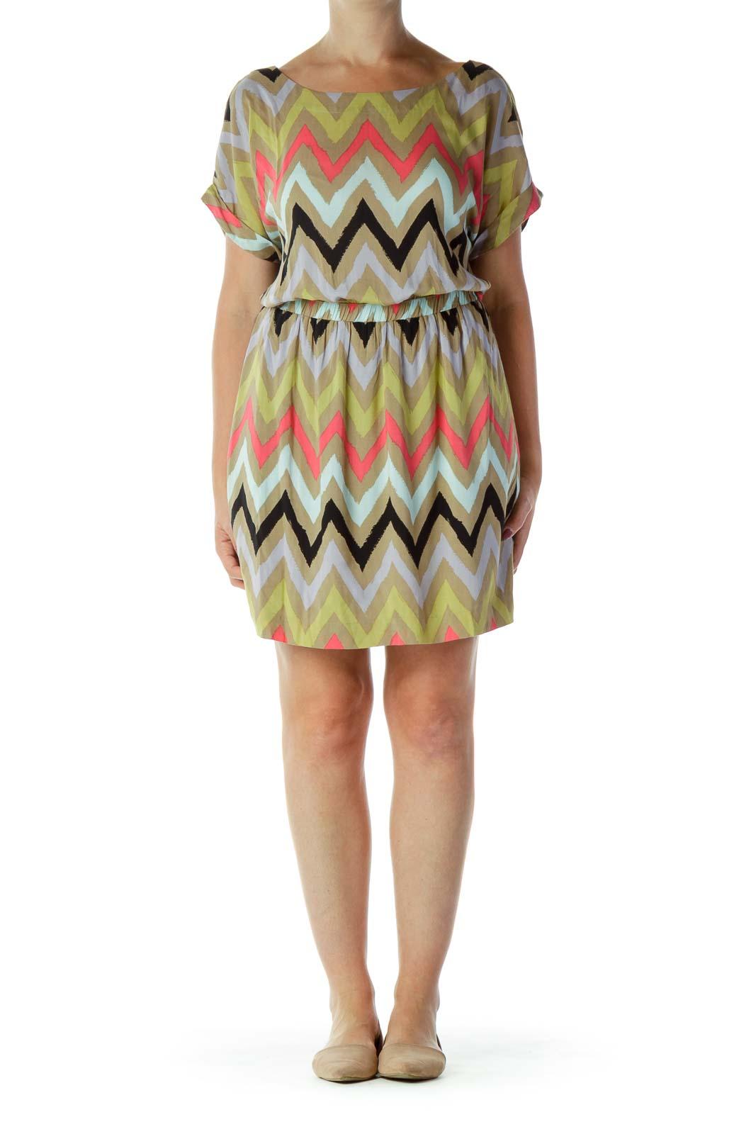 Multicolor Chevron Dress